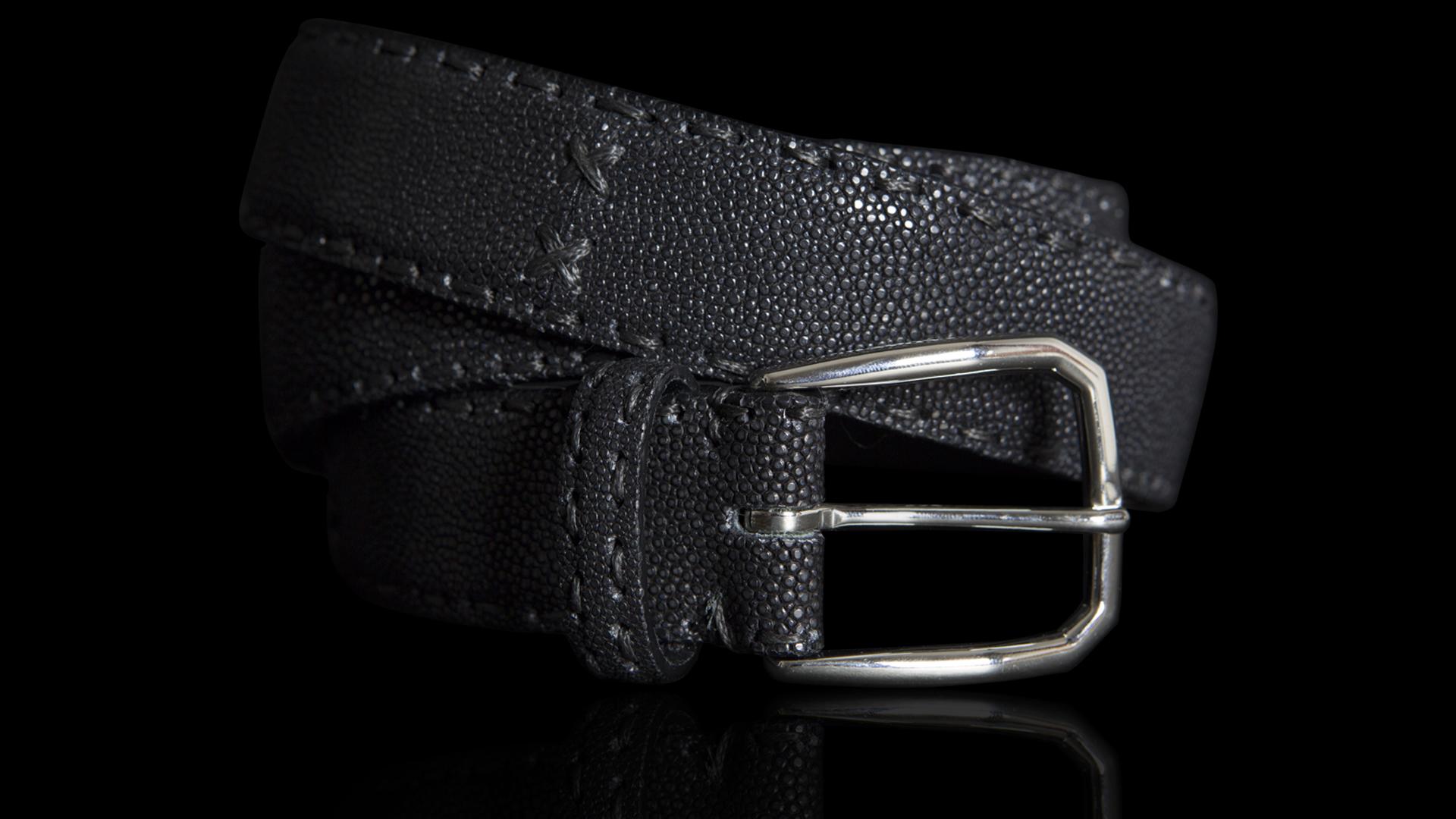 vestibilità classica accogliente fresco più amato Cintura in razza Galuchat colore nero